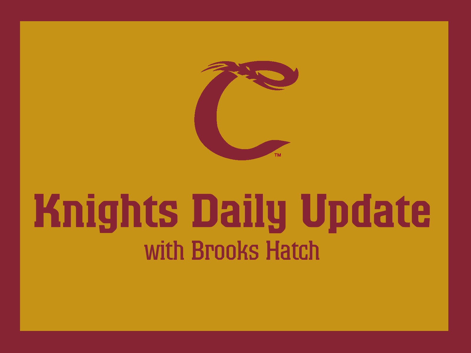 Brooks Hatch Blog: Sellout Crowd Watches Knights Top Bend