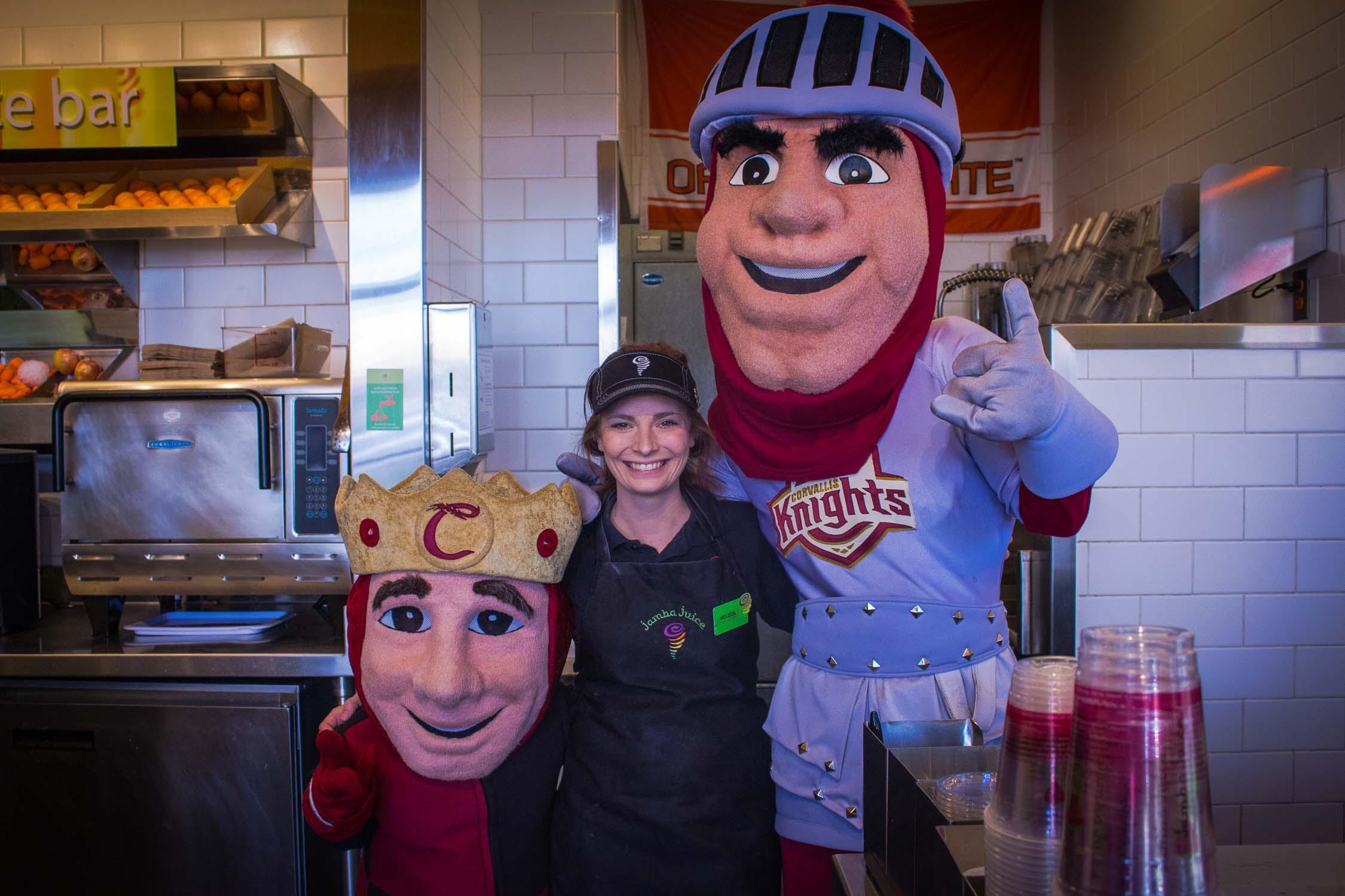 Corvallis Knights Mascots