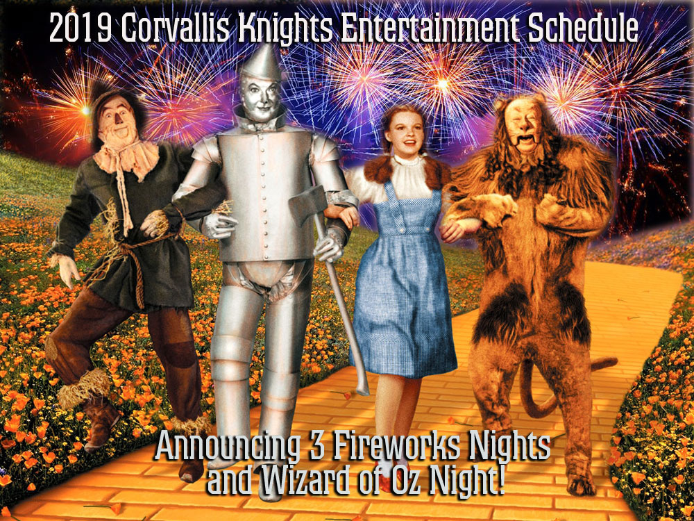 Corvallis Knights Release 2019 Entertainment Schedule