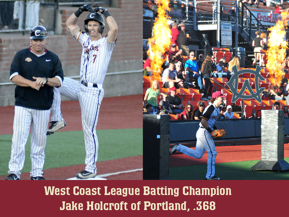 Holcroft Captures West Coast League Batting Crown