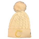 Cream C Monogram Beanie